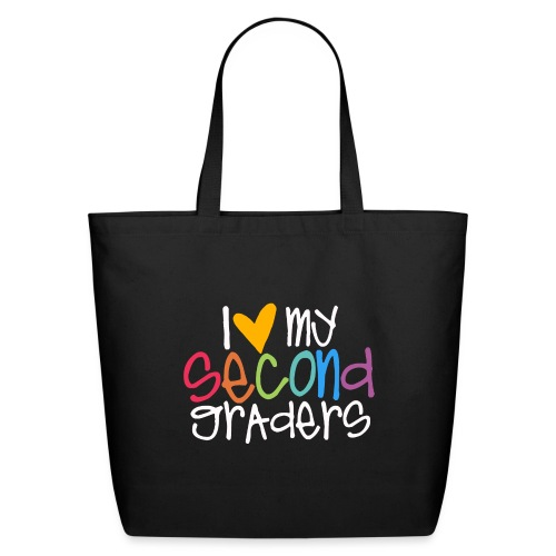 I Love My Second Graders Teacher Shirt - Eco-Friendly Cotton Tote