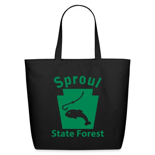 Sproul State Forest Fishing Keystone PA - Eco-Friendly Cotton Tote