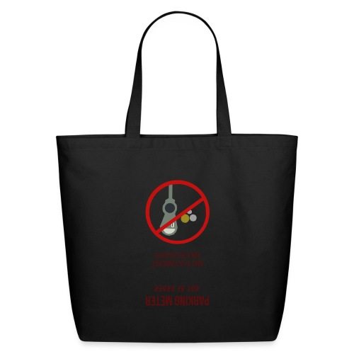 parkingmeterupsidedown.png - Eco-Friendly Cotton Tote