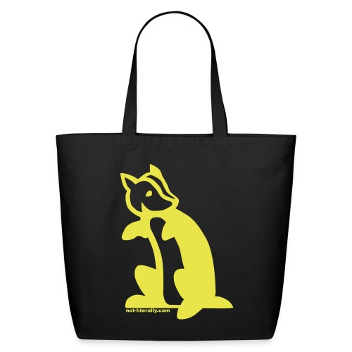 Not Literally Hufflepuff Logo Large - Eco-Friendly Cotton Tote