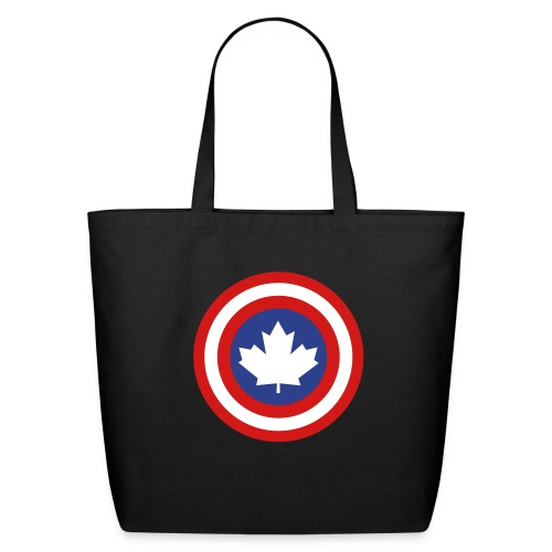 Captain Canada Shield 3 Colour - Eco-Friendly Cotton Tote