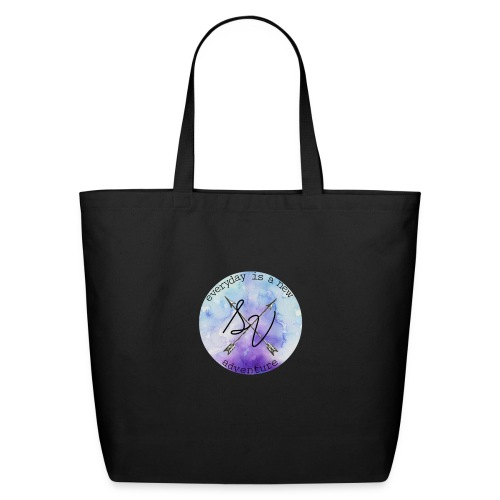 everyday is a new adventure logo - Eco-Friendly Cotton Tote