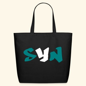Speak Your Need Initials Teal - Eco-Friendly Cotton Tote