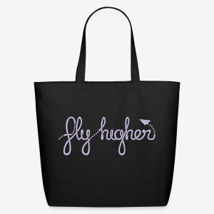 Fly Higher - Light Purple - Eco-Friendly Cotton Tote