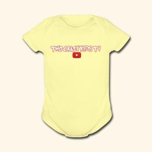 Crazy Kids Name with youtube Logo - Short Sleeve Baby Bodysuit