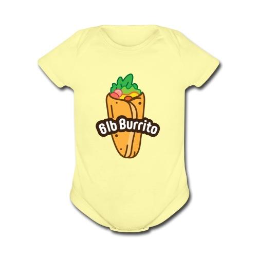 Burrito Logo - Organic Short Sleeve Baby Bodysuit