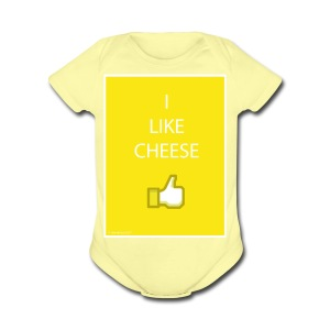 i like cheese - Short Sleeve Baby Bodysuit