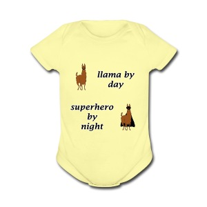 Hero Llama - Short Sleeve Baby Bodysuit