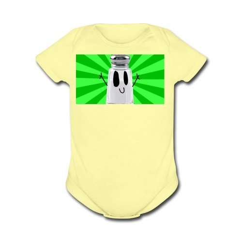 SaltShaker Productions 2018 limited edition merch - Organic Short Sleeve Baby Bodysuit