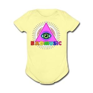 Illuminati BadMusic - Short Sleeve Baby Bodysuit