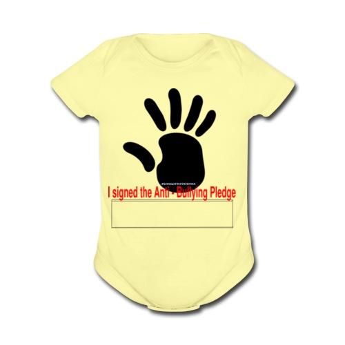 Bully pledge - Organic Short Sleeve Baby Bodysuit