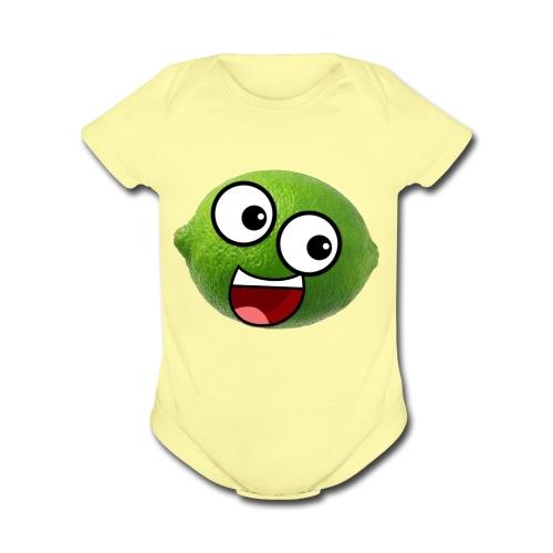 Limellop's Logo - Organic Short Sleeve Baby Bodysuit