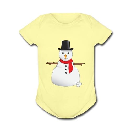 christmas-snowman-clipart-this-cute-snowman-clip-a - Organic Short Sleeve Baby Bodysuit