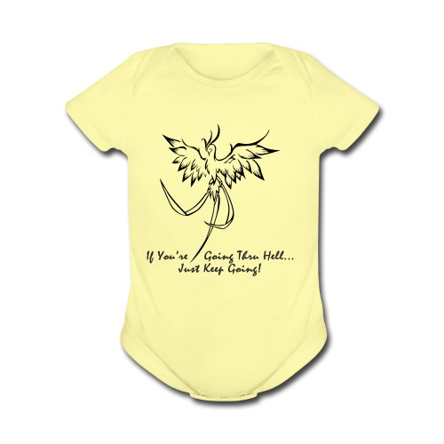 goingthruhell3000 - Organic Short Sleeve Baby Bodysuit