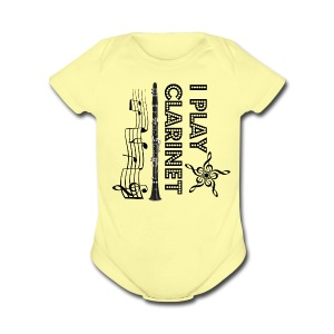 i play clarinet - Short Sleeve Baby Bodysuit