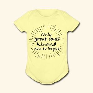 t shirt Only great souls - Short Sleeve Baby Bodysuit