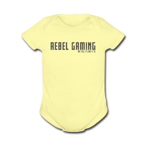 Rebel Gaming We Tell It Like It Is - Short Sleeve Baby Bodysuit