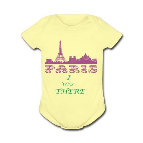 I Was There PARIS - Organic Short Sleeve Baby Bodysuit