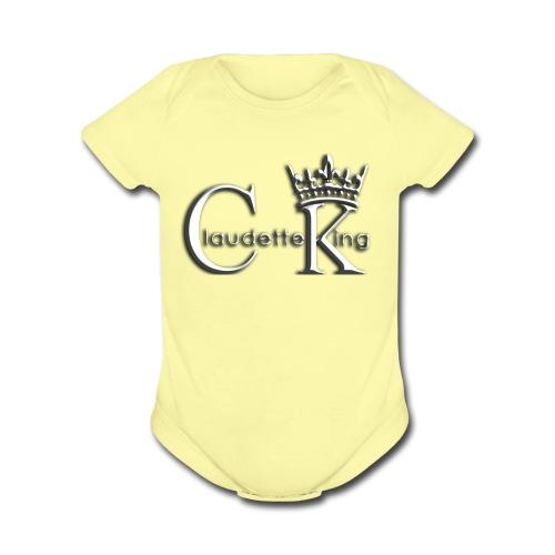 Claudett Blues King - Organic Short Sleeve Baby Bodysuit