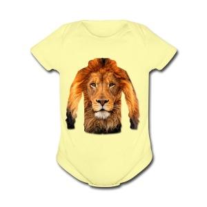 لبس أسد - Short Sleeve Baby Bodysuit