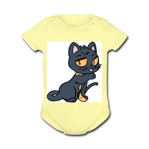 Kieran_Cat_Test - Short Sleeve Baby Bodysuit