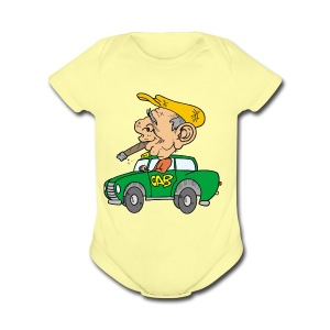 Old cab/Taxi driver enjoying Cigar - Short Sleeve Baby Bodysuit