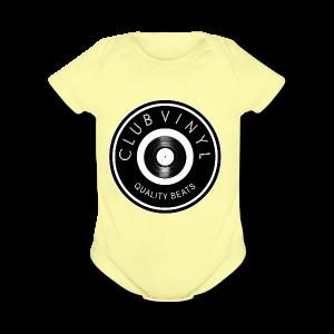 CLUBvinyl RECORDwhite - Short Sleeve Baby Bodysuit