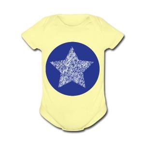 Sketchy star - Short Sleeve Baby Bodysuit