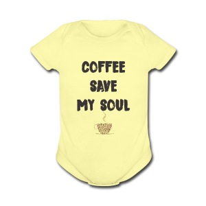 coffee - Short Sleeve Baby Bodysuit