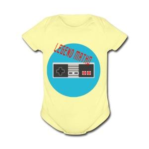 Legend Matho RETRO logo! - Short Sleeve Baby Bodysuit