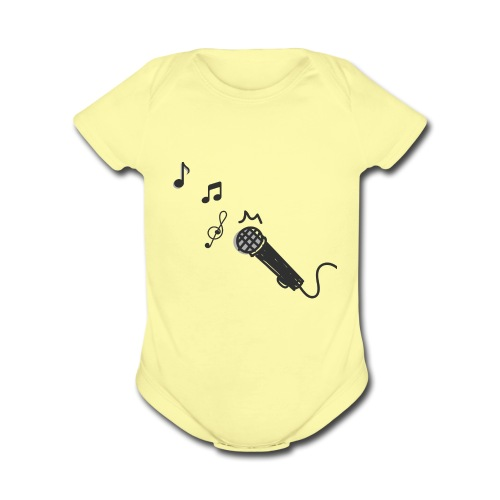 mic and notes - Organic Short Sleeve Baby Bodysuit