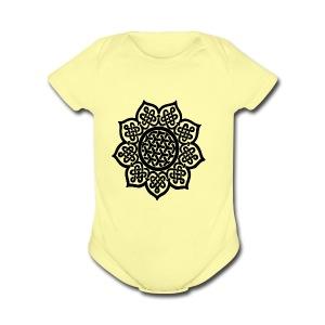 Flower Drawing - Short Sleeve Baby Bodysuit