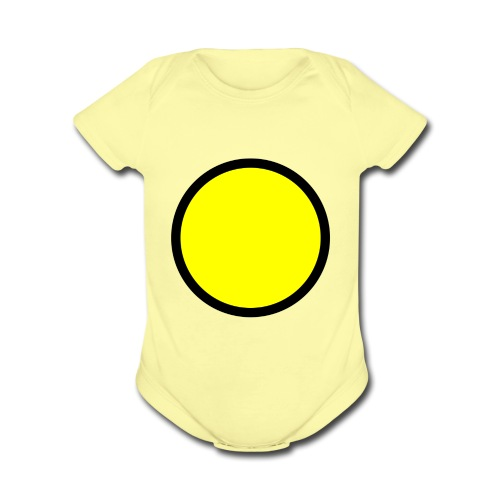 Circle yellow svg - Organic Short Sleeve Baby Bodysuit