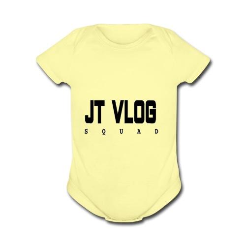 jt vlog squad - Organic Short Sleeve Baby Bodysuit