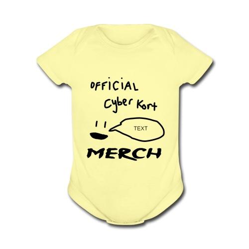 smiley speech design - Organic Short Sleeve Baby Bodysuit