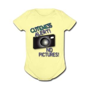 Cuteness Alert 2 - Short Sleeve Baby Bodysuit