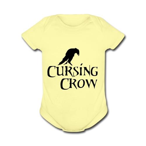 Cursing Crow Logo - Organic Short Sleeve Baby Bodysuit