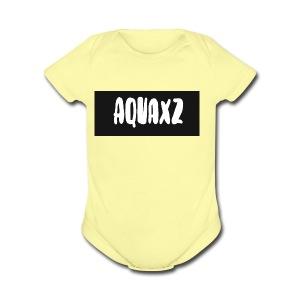 aquashirtlogo - Short Sleeve Baby Bodysuit