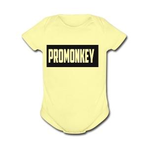 ProMonkey Logo - Short Sleeve Baby Bodysuit