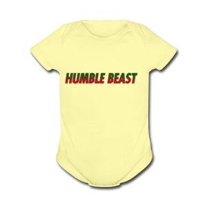 HUMBLE BEAST - Short Sleeve Baby Bodysuit