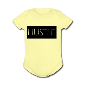 HUSTLE - Short Sleeve Baby Bodysuit