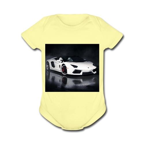 wallpaper14527313357b7ff1 - Organic Short Sleeve Baby Bodysuit