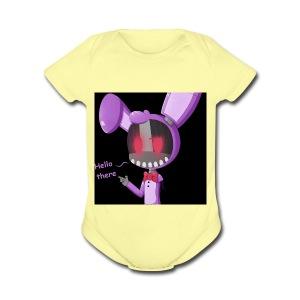 Bonnie vlogs merch - Short Sleeve Baby Bodysuit