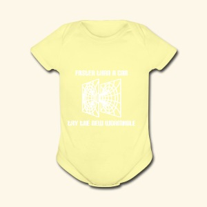 wormhole is faster than a car - white version - Short Sleeve Baby Bodysuit