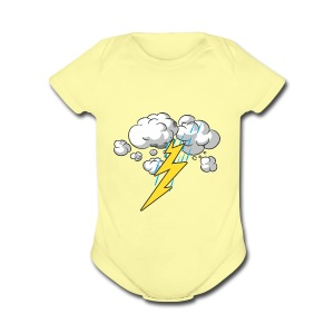 Thunder and Lightning - Short Sleeve Baby Bodysuit