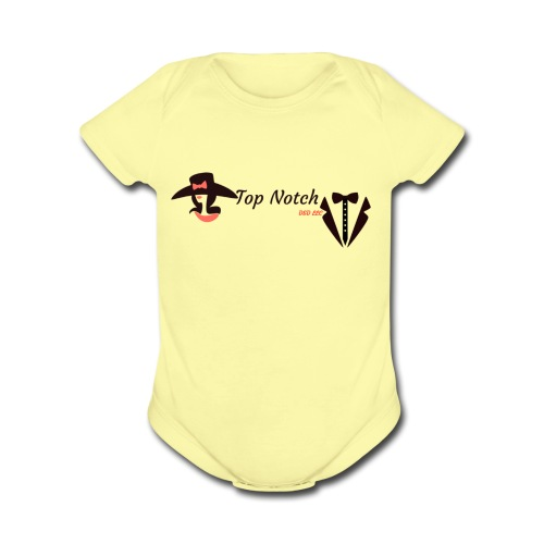 top notch - Organic Short Sleeve Baby Bodysuit