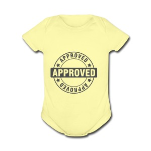 Approved Stamp - Short Sleeve Baby Bodysuit