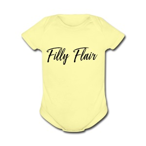 fillyflair blk - Short Sleeve Baby Bodysuit