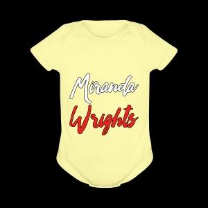 Miranda Wrights Logo - Short Sleeve Baby Bodysuit