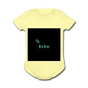 Echo Clan Offical Logo Merch - Short Sleeve Baby Bodysuit